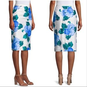 Draper James Peony Floral Print Logan Pencil Skirt
